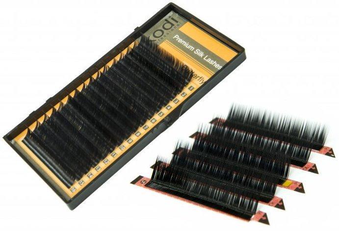 Ресницы для наращивания Kodi Professional Butterfly, L-0.15 (16 рядов: 9/10/11/12/13 мм.) черные