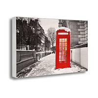 Картина на холсте с принтом Зима в Лондоне