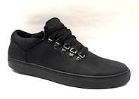 Мужские туфли-слипоны нубук натуральный чёрные 0499УКМ