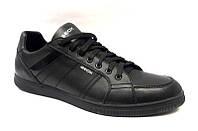 Мужские туфли брендовые Geox натуральная кожа чёрные 0498УКМ