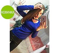 """Женская кофта с чокером """"Вероника"""" код 445 ф, фото 1"""