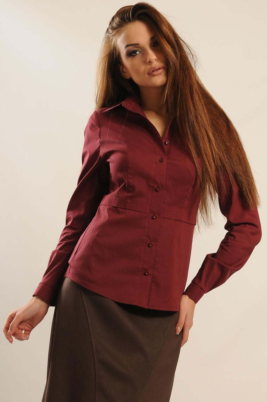 Блуза Пинк цвет бордо Ри Мари 42-50р.