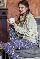 Флисовый домашний комплект / теплая пижама KEY LHS 886 B7