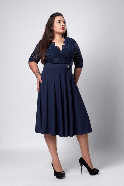 1f7ca65be72 Женское нарядное платье больших размеров 52