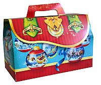 Новогодняя Упаковка для конфет Саквояж ШАРИКИ-1000 - 1300г