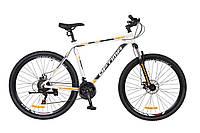 """Велосипед горный  29"""" Optimabikes Motion Dd 2017, алюминиевая рама, рама 21""""  бело-черный с оранжевым"""