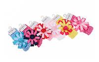Детская повязка на голову с цветком разноцветная, 12шт/уп, 1-57720