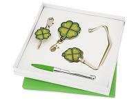 Набор «Дамское счастье»: шариковая ручка, крючок для ключей, складной крючок для сумки с карабином и шильдом, крючок для сумки в виде листочков