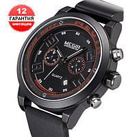 Кварцевые часы Megir (black-red)