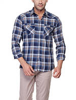 Мужская рубашка LC Waikiki/ЛС Вайкики синего цвета в полоски
