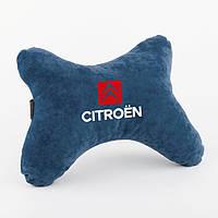 """Дорожня подушка під голову BONE """"citroen"""" флок, фото 1"""