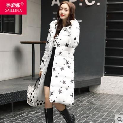 Пальто женское со звёзды, камуфляж