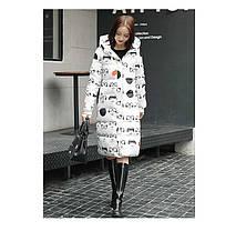Пальто женское со звёзды, камуфляж, фото 2