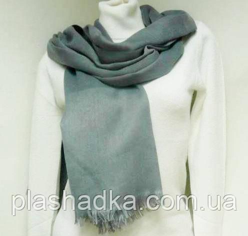 Шарф-палантин, цвет  серый