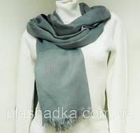 Шарф-палантин, цвет  серый, фото 1