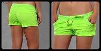 "Шорты ""Little shorts"" - трикотаж. Распродажа салатовый, 40"