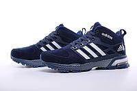 Кроссовки мужские Adidas Neo Winter Blue с мехом