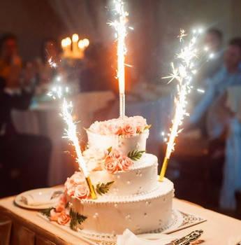 Свечи фонтан (фейерверк) в торт