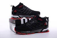 Кроссовки мужские Adidas Neo Winter Black/Red  с мехом