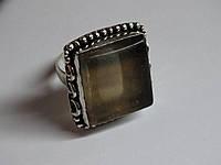 Кольцо флюорит крупный натуральный 23х20 мм в серебре штамп 925 Индия