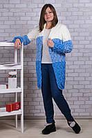Женские штаны на меху Золото А923-2 5XL. Синие. Размер 50-56.