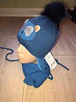 Детский набор Мордочки шапка+ шарф