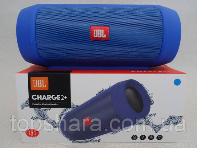 Колонка бездротоваBluetooth (блютуз) JBL Charge 2+ колірсиний