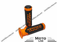 Грипсы, ручки руля 0001 Monster Energy (оранжевые) (CH) Mototech