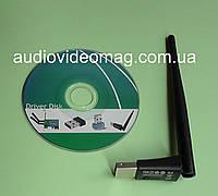 Беспроводной мини адаптер USB WiFi 150Mbps с антенкой