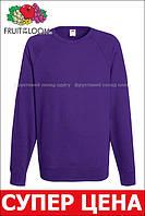 Мужской лёгкий реглан Фиолетовый Fruit Of The Loom 62-138-PE S