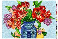 Схема для вышивки крестом (канва с рисунком) 32*48см А3-16-121 Вишиванка