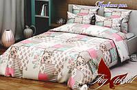 Сменная постель в кроватку полуторная Прованс роз
