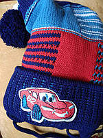 Шапка+шарфик детская зимняя. Польша . 1-2 годика