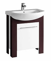 Шкафчик под мебельный умывальник Kolo RUNA 65*79*31,8 см венге/белый глянец