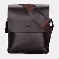 Стильная мужская сумка POLO, сумка мужская через плечо, смотрите видеообзор
