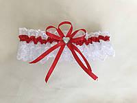 Подвязка для невесты красная 8