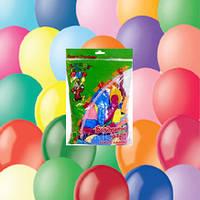 """Шарики 9""""(23см) в упаковках по 100 шт. без рисунка Пастель+Декоратор"""