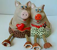 Скарбничка Свині пара В-14 ІІІ-20 Копилка свиньи пара