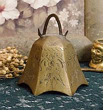 Антикварный бронзовый колокольчик, бронза, Индия?
