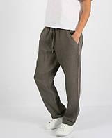Льняные брюки с манжетами, фото 1