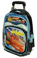 Набор-Ранец детский дорожний школьныйна колесиках  Тачка маквин 688