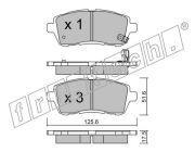 Тормозные колодки  ROADHOUS FORD  RH 21281.10