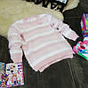 Кофточка бело-розовая полоска KD0022-116р