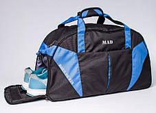 """Спортивная сумка """"CROSS PORTER"""" (черный с синим), фото 2"""
