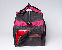 """Спортивна сумка """"CROSS PORTER"""" (чорний з бордовим), фото 2"""