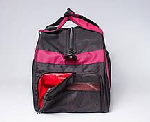 """Спортивная сумка """"CROSS PORTER"""" (черный с бордовым), фото 2"""