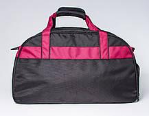 """Спортивна сумка """"CROSS PORTER"""" (чорний з бордовим), фото 3"""