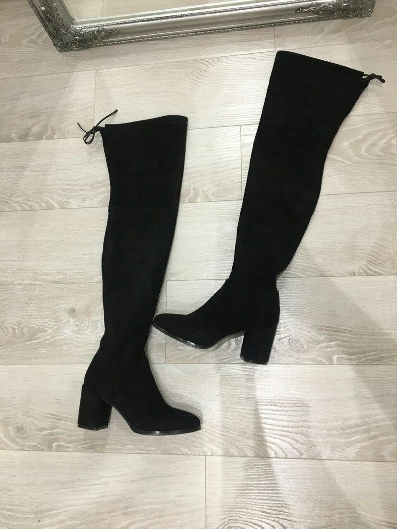 Ботфорты женские стрейчевые на каблуке
