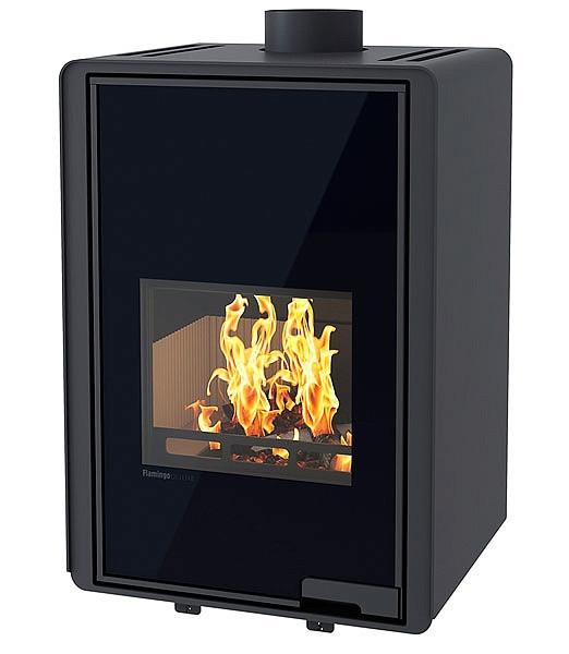 Отопительная печь-камин длительного горения FLAMINGO DELUXE MALIA (черный)