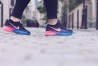 Женские кроссовки Nike Air Max Flyknit Woman blue-rose (найк)